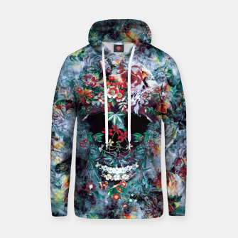 Thumbnail image of Skull Flower Cotton hoodie, Live Heroes