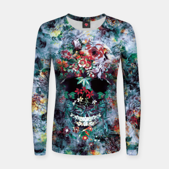 Thumbnail image of Skull Flower Woman cotton sweater, Live Heroes