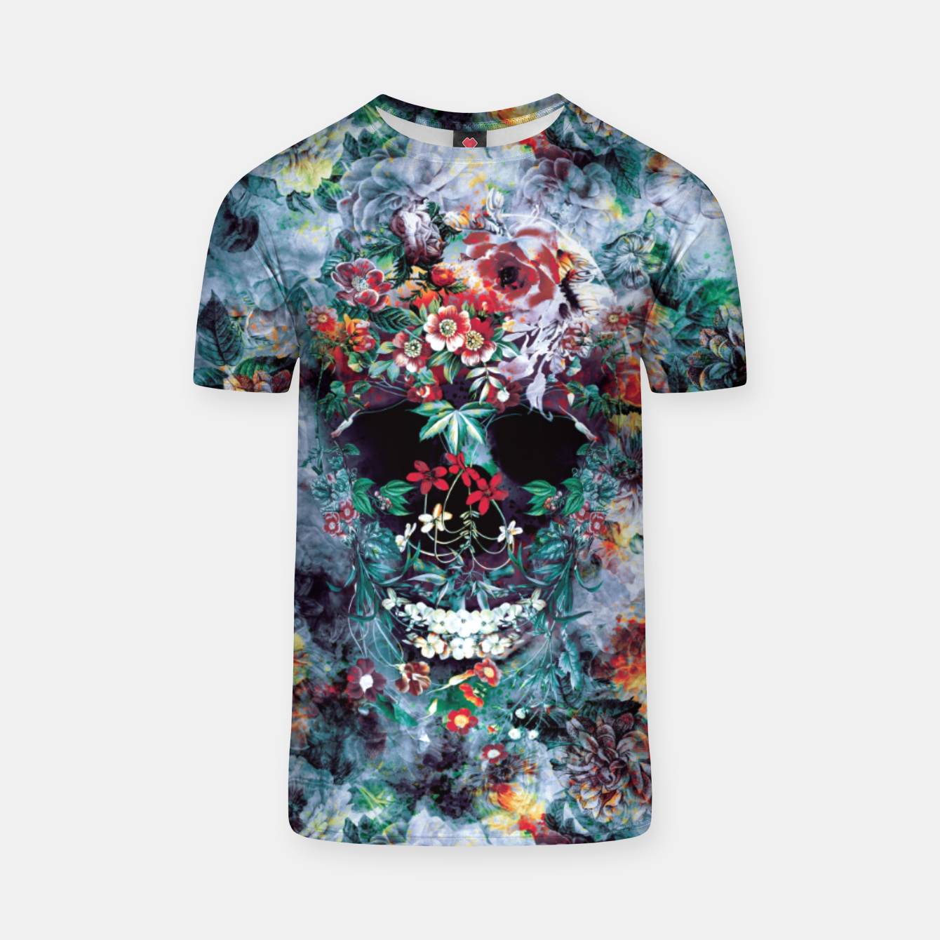 Image of Skull Flower T-shirt - Live Heroes