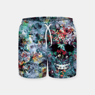 Thumbnail image of Skull Flower Swim Shorts, Live Heroes