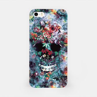 Skull Flower iPhone Case Bild der Miniatur