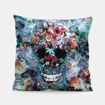 Thumbnail image of Skull Flower Pillow, Live Heroes