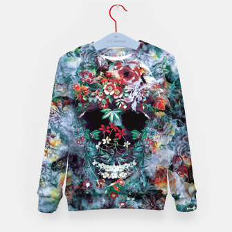 Skull Flower Kid's sweater Bild der Miniatur