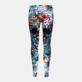 Skull Flower Girl's leggings Bild der Miniatur
