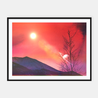 Thumbnail image of Olympia Mountains Framed poster, Live Heroes