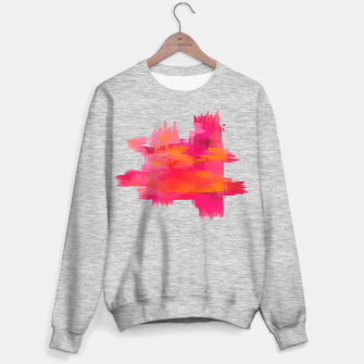 """Thumbnail image of """"Abstract brushstrokes in pastel pinks and oranges decorative pattern"""" Sudadera regular, Live Heroes"""