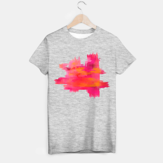 "Miniaturka ""Abstract brushstrokes in pastel pinks and oranges decorative pattern"" Camiseta Regular, Live Heroes"