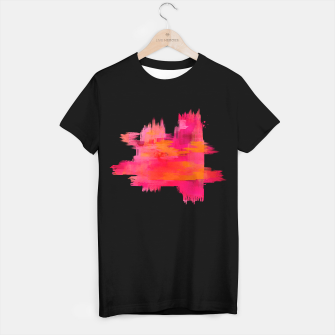 "Miniaturka ""Abstract brushstrokes in pastel pinks and oranges decorative pattern II"" Camiseta Regular, Live Heroes"