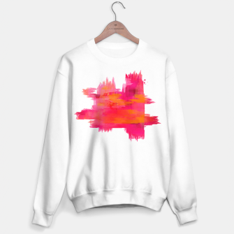 """Thumbnail image of """"Abstract brushstrokes in pastel pinks and oranges decorative pattern II"""" Sudadera regular, Live Heroes"""