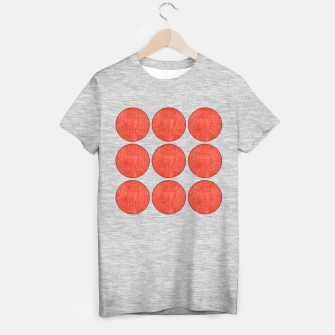 "Miniaturka ""Pink Circles on Retro Burlap II"" Camiseta Regular, Live Heroes"