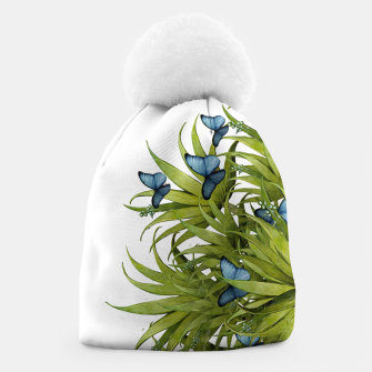 "Miniaturka ""El Bosco fantasy, tropical island blue butterflies II"" Gorro, Live Heroes"