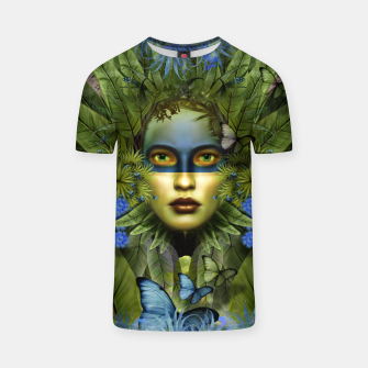 "Imagen en miniatura de ""Tropical green and indigo jungle Woman"" Camiseta, Live Heroes"