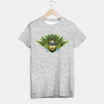 "Miniaturka ""Tropical green and indigo jungle Woman II"" Camiseta Regular, Live Heroes"