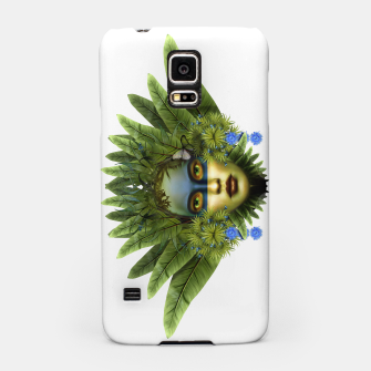 "Imagen en miniatura de ""Tropical green and indigo jungle Woman II"" Carcasa por Samsung, Live Heroes"