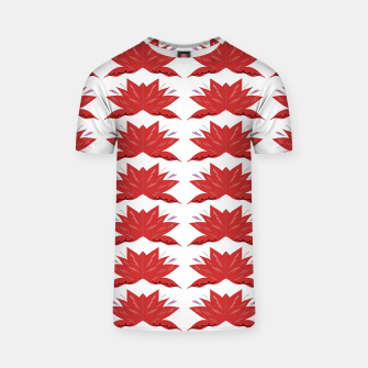 Miniaturka T-SHIRT with mandalas red, white, Live Heroes