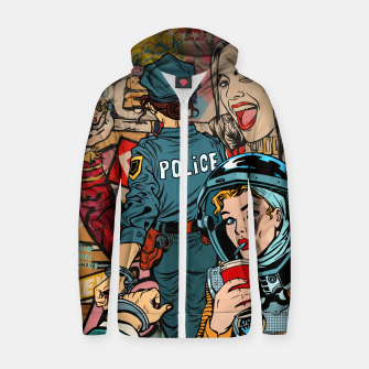 Imagen en miniatura de Woman's World Cotton zip up hoodie, Live Heroes