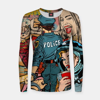 Thumbnail image of Woman's World Woman cotton sweater, Live Heroes