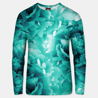 Thumbnail image of Turquoise Peonies Dream #1 #floral #decor #art Baumwoll sweatshirt, Live Heroes