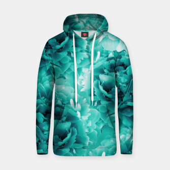 Thumbnail image of Turquoise Peonies Dream #1 #floral #decor #art Baumwoll Kapuzenpullover, Live Heroes
