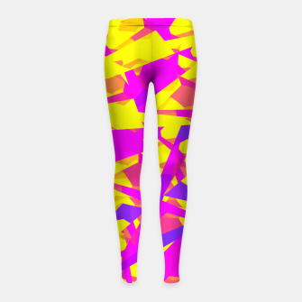 Thumbnail image of Abstract & colors 12 Leggings de fille, Live Heroes