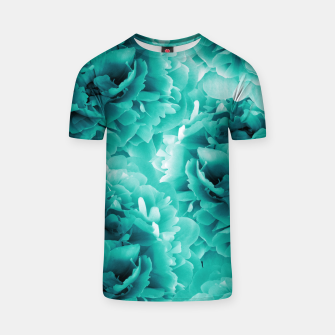 Turquoise Peonies Dream #1 #floral #decor #art T-Shirt thumbnail image