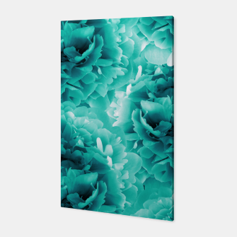Thumbnail image of Turquoise Peonies Dream #1 #floral #decor #art Canvas, Live Heroes