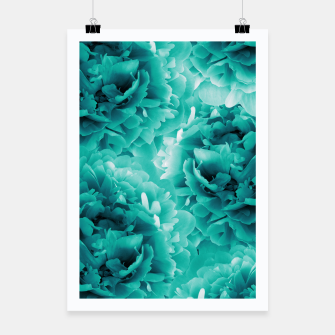 Thumbnail image of Turquoise Peonies Dream #1 #floral #decor #art Plakat, Live Heroes