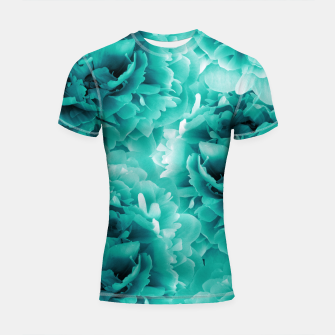 Turquoise Peonies Dream #1 #floral #decor #art Shortsleeve rashguard thumbnail image