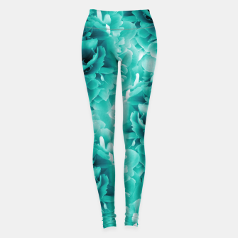 Thumbnail image of Turquoise Peonies Dream #1 #floral #decor #art Leggings, Live Heroes