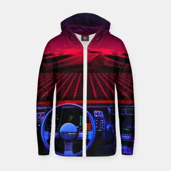 Thumbnail image of Night Drive Cotton zip up hoodie, Live Heroes
