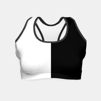 Thumbnail image of Black & White Minimalistic Design Crop Top, Live Heroes
