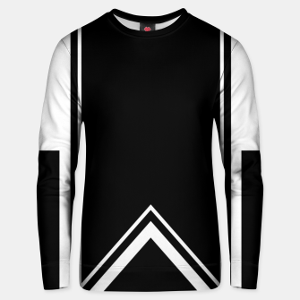 Thumbnail image of Black and White Minimalistic Design Cotton sweater, Live Heroes
