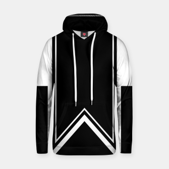 Thumbnail image of Black and White Minimalistic Design Cotton hoodie, Live Heroes