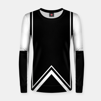 Thumbnail image of Black and White Minimalistic Design Woman cotton sweater, Live Heroes