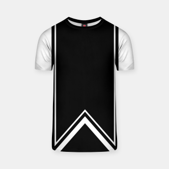 Thumbnail image of Black and White Minimalistic Design T-shirt, Live Heroes
