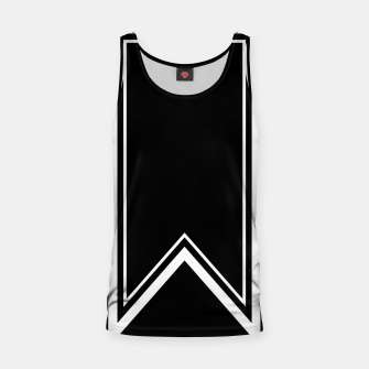 Thumbnail image of Black and White Minimalistic Design Tank Top, Live Heroes