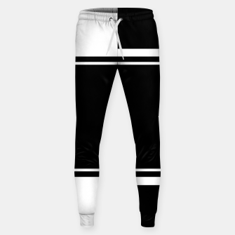 Thumbnail image of Black and White Minimalistic Design Cotton sweatpants, Live Heroes