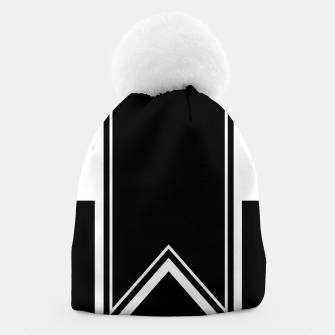 Thumbnail image of Black and White Minimalistic Design Beanie, Live Heroes