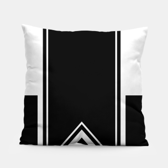 Thumbnail image of Black and White Minimalistic Design Pillow, Live Heroes