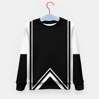 Thumbnail image of Black and White Minimalistic Design Kid's sweater, Live Heroes