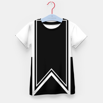 Thumbnail image of Black and White Minimalistic Design Kid's t-shirt, Live Heroes