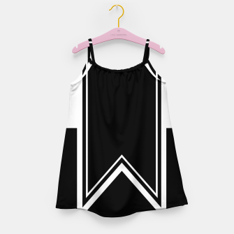 Thumbnail image of Black and White Minimalistic Design Girl's dress, Live Heroes