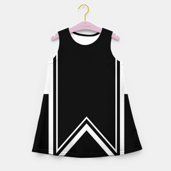 Thumbnail image of Black and White Minimalistic Design Girl's summer dress, Live Heroes
