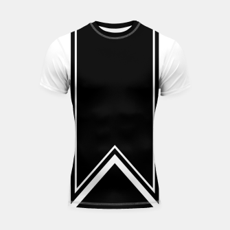 Thumbnail image of Black and White Minimalistic Design Shortsleeve rashguard, Live Heroes