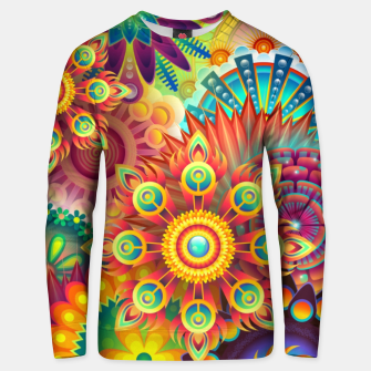 Cracy Mandala Rainbow Design Cotton sweater thumbnail image