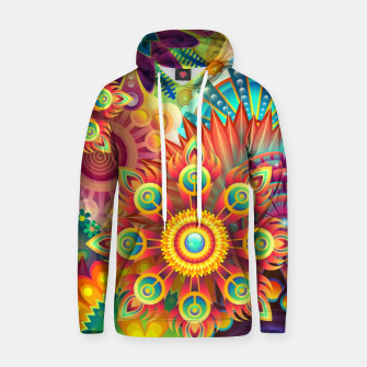 Cracy Mandala Rainbow Design Cotton hoodie thumbnail image