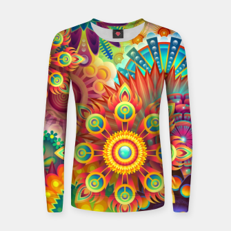 Thumbnail image of Cracy Mandala Rainbow Design Woman cotton sweater, Live Heroes