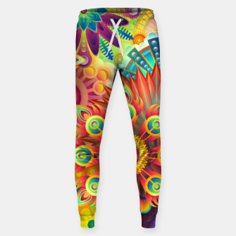 Cracy Mandala Rainbow Design Cotton sweatpants thumbnail image
