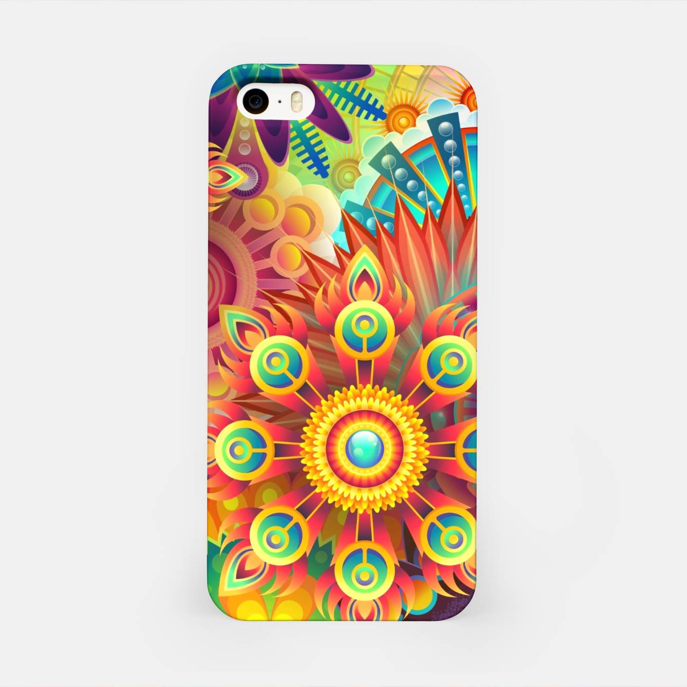 Image of Cracy Mandala Rainbow Design iPhone Case - Live Heroes