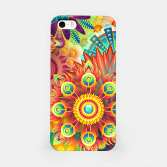 Cracy Mandala Rainbow Design iPhone Case thumbnail image